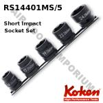 Ko-ken RS14401MS/5 Short impact sockets